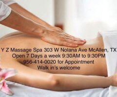 Mcallen body rub - ???Y Z Massage Spa❎??❎?❎?956-414-0020??????