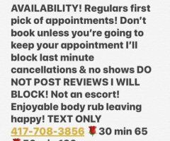 Springfield body rub - AVAILABLE BOOK NOW Professional Bodyrub leaving you HAPPY