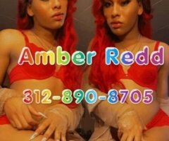 Chicago TS escort female escort - OUT WEST📍Incall/Outcall TS Amber Redd💋 SEXY Goddess