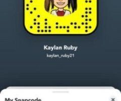 hey guys i'm available to have some fun 😘 you can also find me on Snapchat @Kaylan_ruby - Image 3